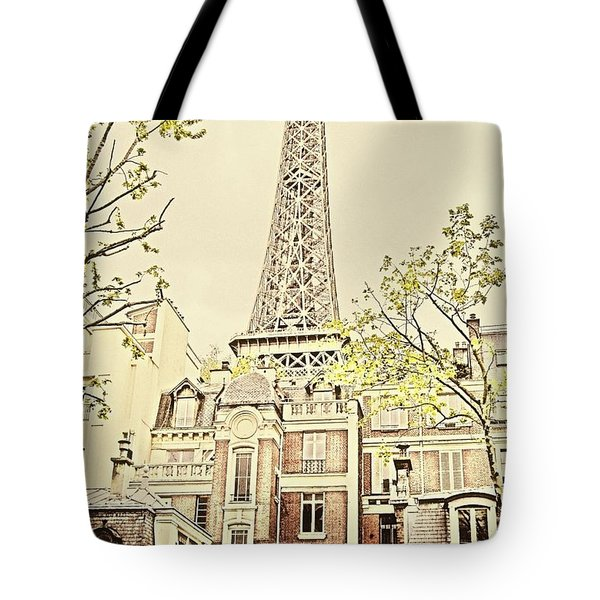 Above The Rooftops Tote Bag