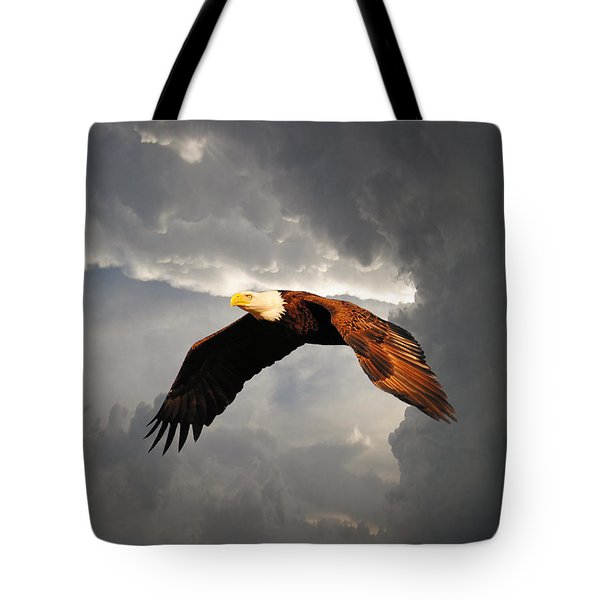 Above The Storm Tote Bag by Jai Johnson