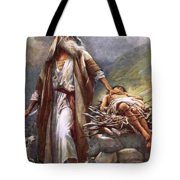 Abraham And Isaac Tote Bag by Harold Copping