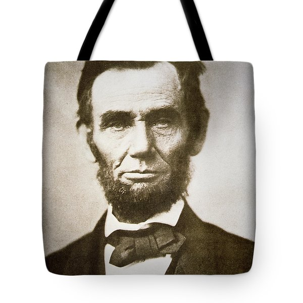Abraham Lincoln Tote Bag by Alexander Gardner