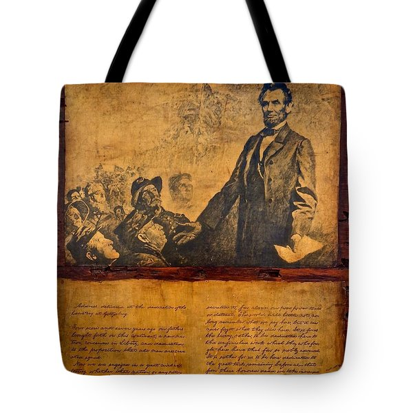 Abraham Lincoln The Gettysburg Address Tote Bag