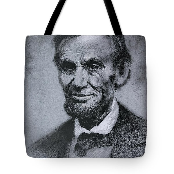 Tote Bag featuring the drawing Abraham Lincoln by Viola El