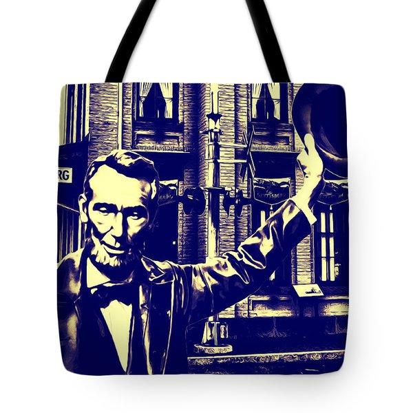 Abraham Lincoln At Gettysburg Tote Bag by Bill Cannon