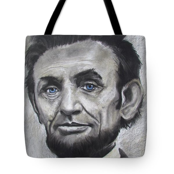 Tote Bag featuring the drawing Abraham Lincoln by Eric Dee