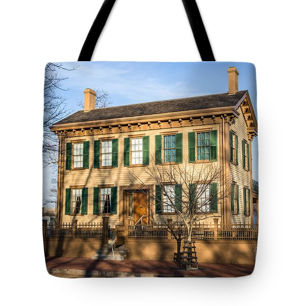 Abraham Lincoln Home In Springfield Illinois Tote Bag by Paul Velgos