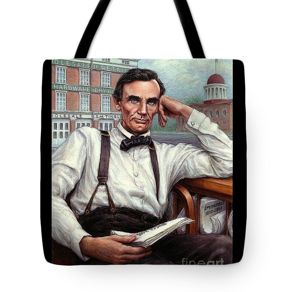 Abraham Lincoln Of Springfield Bicentennial Portrait Tote Bag by Jane Bucci