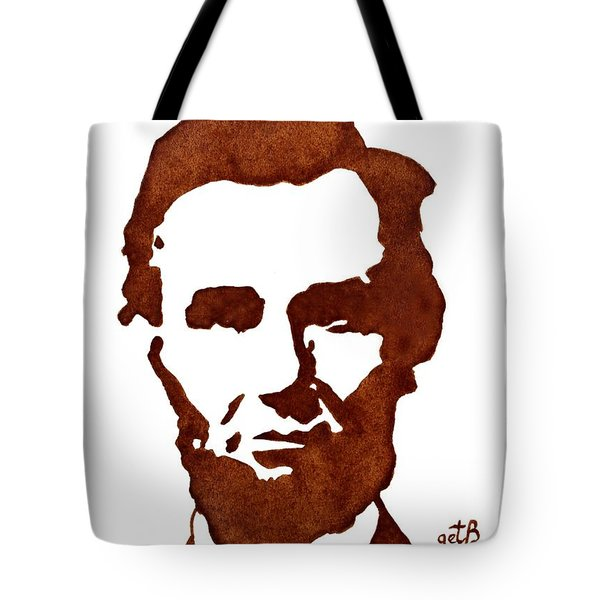 Abraham Lincoln Original Coffee Painting Tote Bag