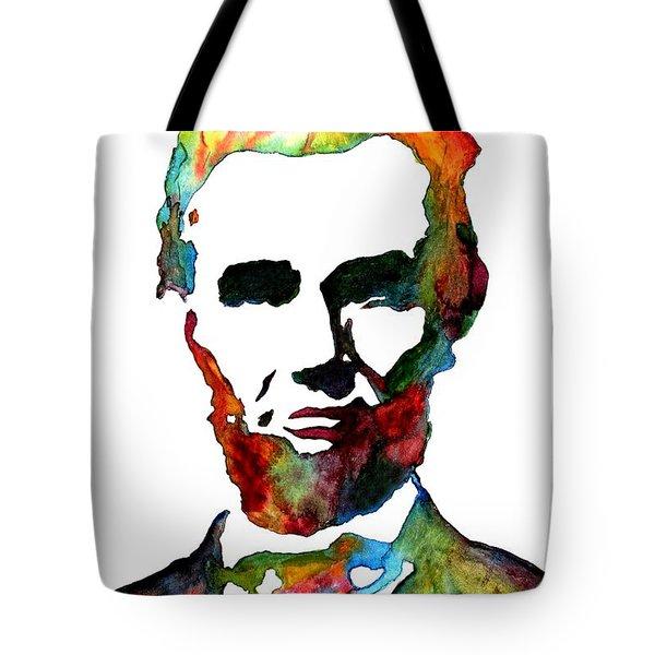 Abraham Lincoln Original Watercolor  Tote Bag