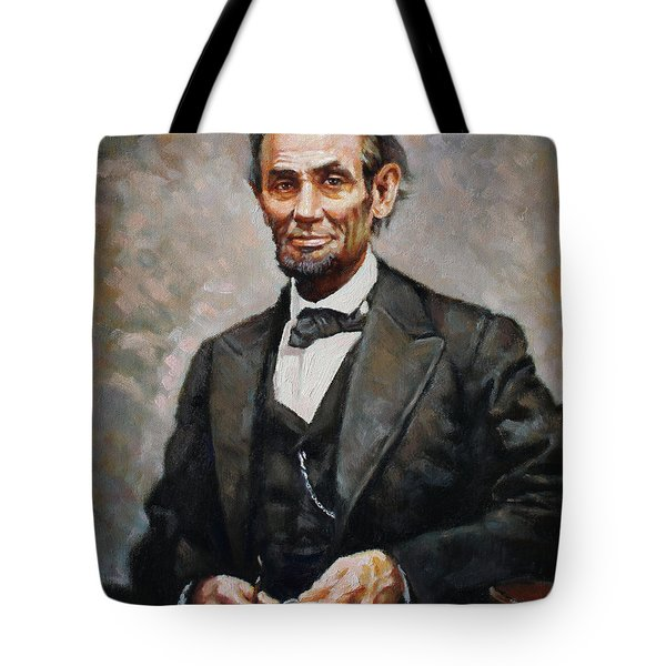 Abraham Lincoln Tote Bag by Ylli Haruni