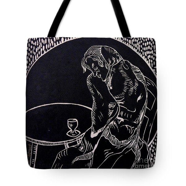 Absinthe Drinker After Picasso Tote Bag by Caroline Street