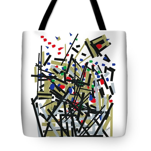 Abstact In Tape And Letterforms One Tote Bag by Agustin Goba