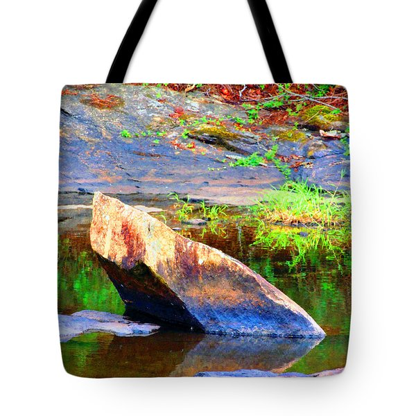 Abstact Rock Tote Bag by Aaron Martens