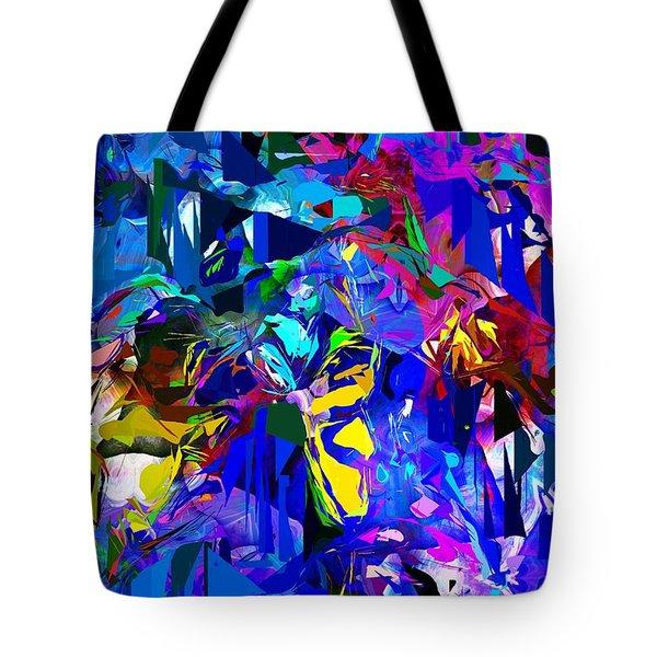 Abstract 010215 Tote Bag by David Lane