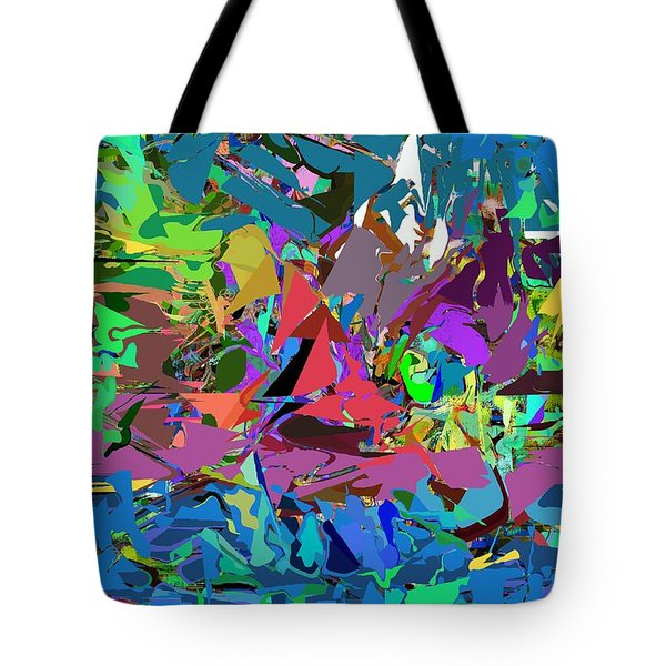 Tote Bag featuring the digital art Abstract 011515 by David Lane