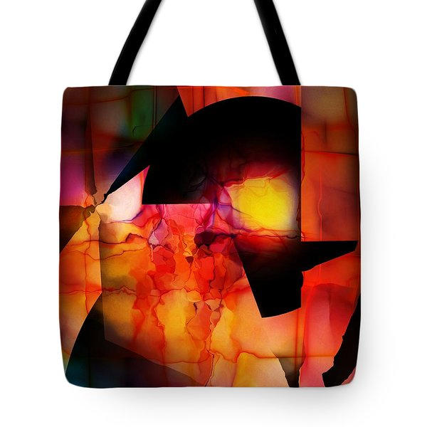 Tote Bag featuring the digital art Abstract 012615 by David Lane