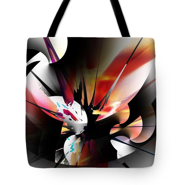 Tote Bag featuring the digital art Abstract 082214 by David Lane