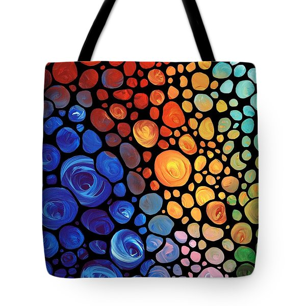 Abstract 1 - Colorful Mosaic Art - Sharon Cummings Tote Bag