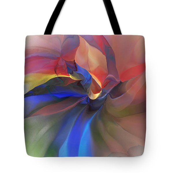 Tote Bag featuring the digital art Abstract 121214 by David Lane