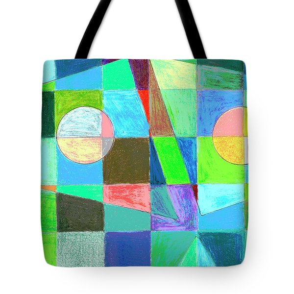 Tote Bag featuring the drawing Abstract 3 by Mary Bedy