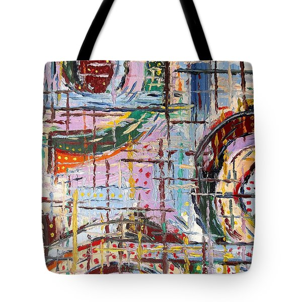 Abstract 9 Tote Bag by Patrick J Murphy