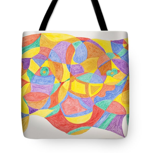 Tote Bag featuring the painting Faces And Places by Stormm Bradshaw