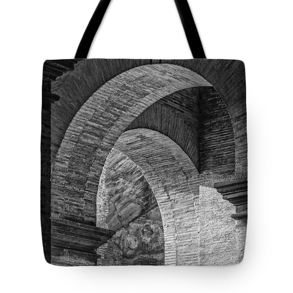 Abstract Arches Colosseum Mono Tote Bag