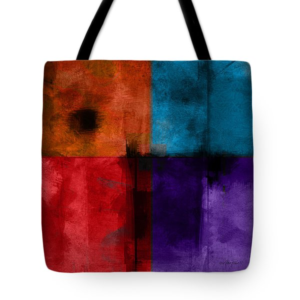 abstract - art- Color Block Square Tote Bag by Ann Powell