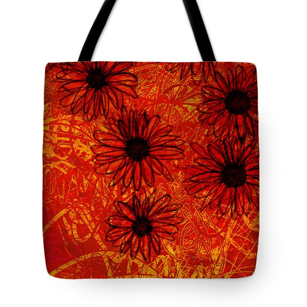 abstract - art- flowers - Daisies  Tote Bag by Ann Powell