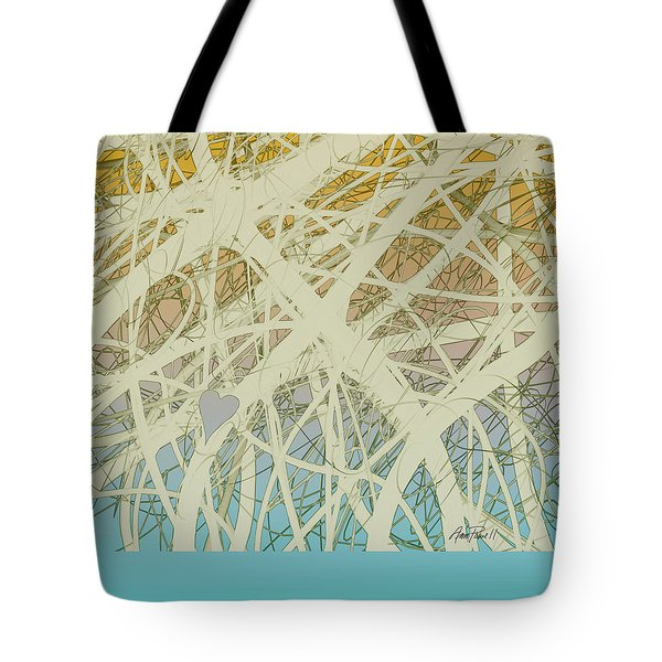 abstract-art-Follow Your Heart Tote Bag by Ann Powell