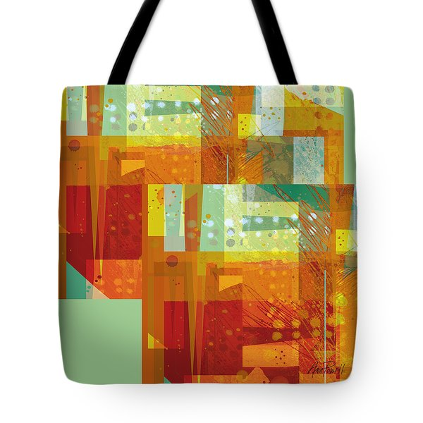 abstract - art- Intersect Orange   Tote Bag by Ann Powell