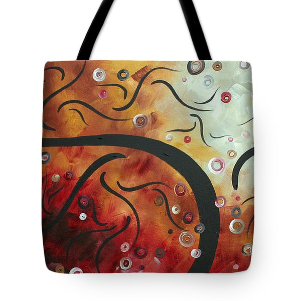 Abstract Art Original Circle Landscape By Madart Tote Bag by Megan Duncanson