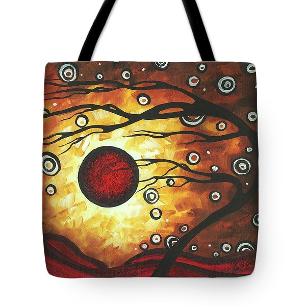 Abstract Art Original Colorful Painting Silent Whispers By Madart Tote Bag by Megan Duncanson