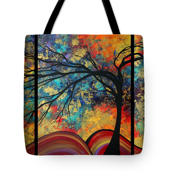 Abstract Art Original Landscape Painting Go Forth By Madart Tote Bag by Megan Duncanson