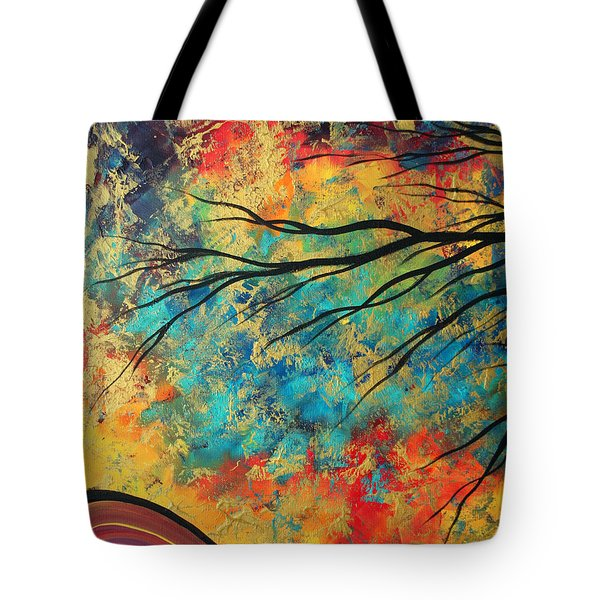 Abstract Art Original Landscape Painting Go Forth I By Madart Studios Tote Bag by Megan Duncanson