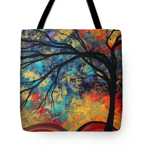 Abstract Art Original Landscape Painting Go Forth II By Madart Studios Tote Bag by Megan Duncanson