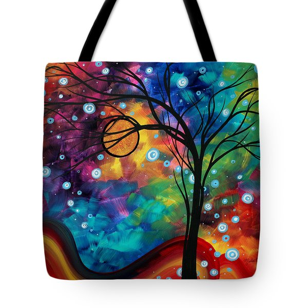 Abstract Art Original Painting Winter Cold By Madart Tote Bag by Megan Duncanson