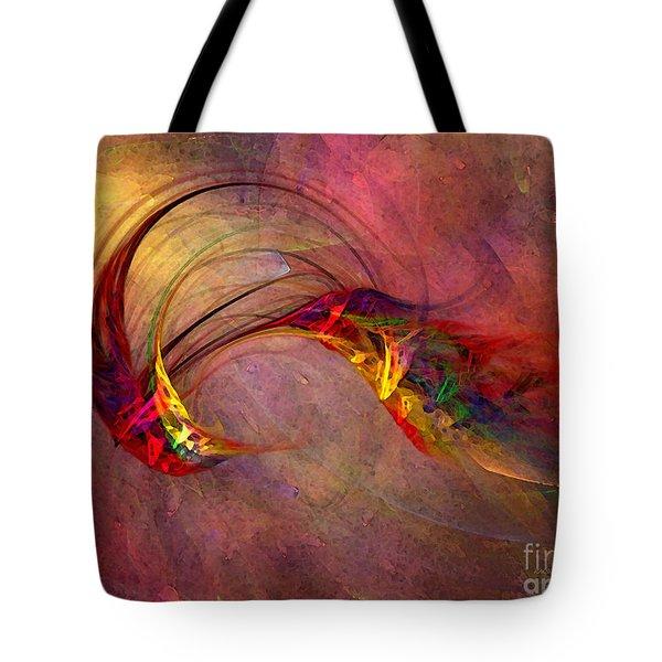Abstract Art Print Hummingbird Tote Bag