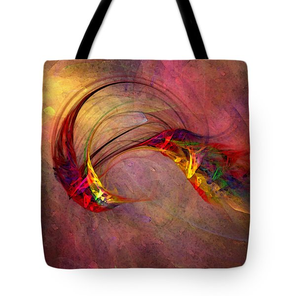 Abstract Art Print Hummingbird Tote Bag