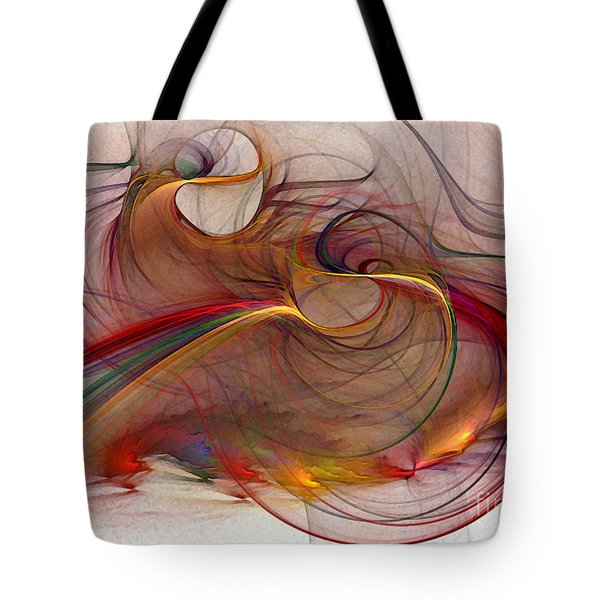 Abstract Art Print Inflammable Matter Tote Bag