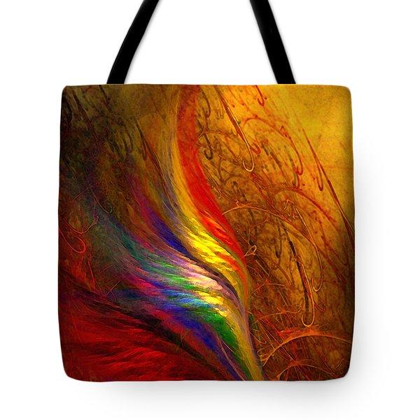 Abstract Art Print Sayings Tote Bag