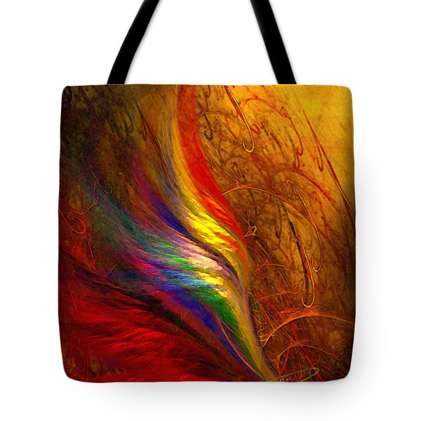 Abstract Art Print Sayings Tote Bag