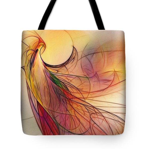 Abstract Art Print Sunday Morning Sidewalk Tote Bag