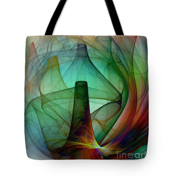 Abstract Art Print Witches Kitchen Tote Bag
