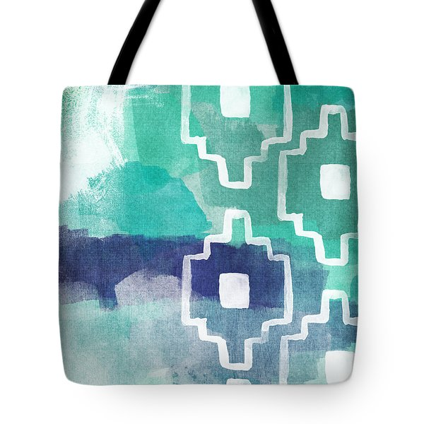 Abstract Aztec- Contemporary Abstract Painting Tote Bag