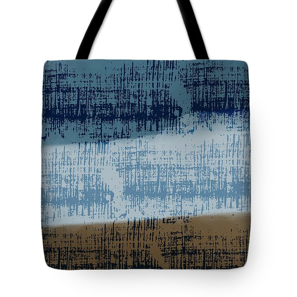 Abstract Blue And Brown Grunge Tote Bag