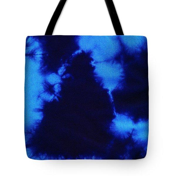 Abstract Blue Batik Pattern Tote Bag by Kerstin Ivarsson