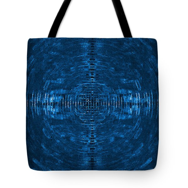 Abstract Blue Electric Circuit Future Technology_oil Painting On Canvas Tote Bag by Nenad Cerovic
