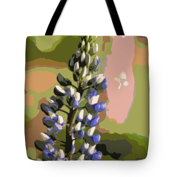 Tote Bag featuring the photograph Abstract Blue Lupine by Kenny Glotfelty