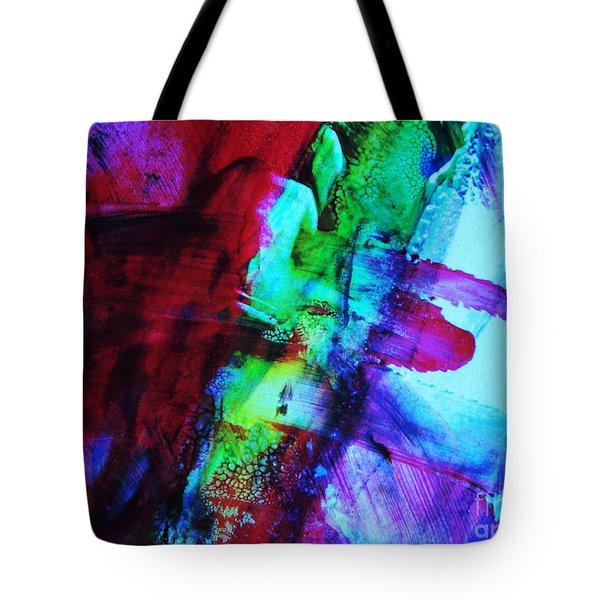 Abstract Bold Colors Tote Bag