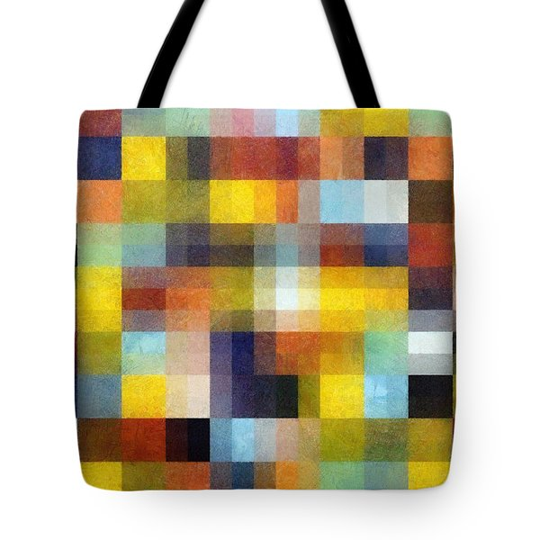 Abstract Boxes With Layers Tote Bag